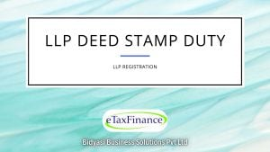 Stamp Duty on LLP Agreement based on Capital Contribution